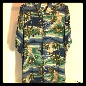 Other - Vintage Hawaiian Aloha Shirt Girls in Bikinis!